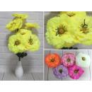 Mazzo artificiale di 7 fiori con glitter (altezza