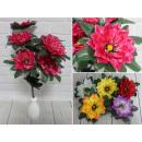Bouquet artificiale di 7 fiori con un centro giall