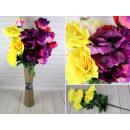 Großhandel Kunstblumen: Künstlicher Strauß 80 cm, Gigarosen, 7 Blüten (15
