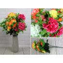 Großhandel Kunstblumen: Künstliches Bouquet ala Chrysantheme 55 cm ...