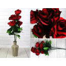 Bouquet artificiel roses ombrées rouges 60 cm, 7 k