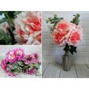 Mazzo di ortensie artificiali con 12 fiori (altezz