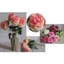 Bouquet di peonia artificiale 8 fiori (altezza 40