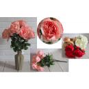 Bouquet di peonie artificiali 9 fiori (altezza 46