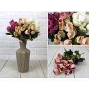 nagyker Otthon és dekoráció: Mesterséges rózsacsokor, színkeverék, 5 ...