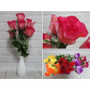 Bouquet di rose artificiali con fiori bianchi 7 fi
