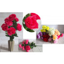 Mazzo artificiale di rosa peonia di 10 fiori (alte