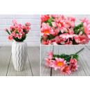 nagyker Otthon és dekoráció: Mesterséges csokor, rózsaszín kis virágok, 25 cm,