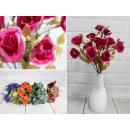 Bouquet di rose artificiali 30 cm, 10 fiori - colo