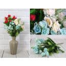 nagyker Otthon és dekoráció: Mesterséges csokor kis rózsa keverék színe 30 cm A