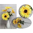 Mazzo di girasoli artificiali 5 fiori (altezza 45