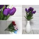 Bouquet de tulipes artificielles, 20 fleurs, 30 cm