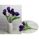 Bouquet di tulipani artificiali 7 fiori altezza 44