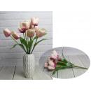 Bouquet di tulipani artificiali 7 fiori, altezza: