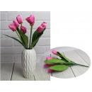 Bouquet di tulipani artificiali 7 fiori alto 35 cm