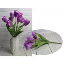 Bouquet di tulipani artificiali 9 fiori, altezza 4