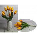 Bouquet di tulipani artificiali giallo scuro 9 fio