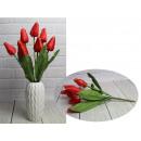 Bouquet di tulipani artificiali arancio scuro 9 fi