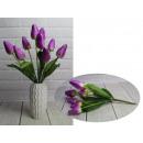 Bouquet di tulipani artificiali viola 9 fiori alte