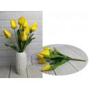 Bouquet di tulipani artificiali giallo brillante a