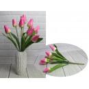 Bouquet di tulipani artificiali rosa brillante 9 f