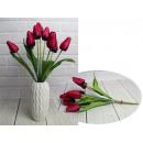 Bouquet artificiale di tulipani lampone 9 fiori al