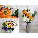 Bouquet artificiale, un mazzo di gigli, 9 gambi di