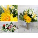 Bouquet artificiale, un mazzo di fiori misti di 12