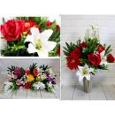 Bouquet artificiale, un mazzo di fiori misti 18 fi