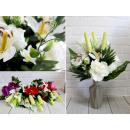 Bouquet artificiale, un mazzo di 18 fiori grandi c