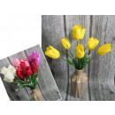 Csokor tulipán 7 virág (magasság 38 cm, virág 6 cm