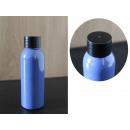 Flacone in pet da 50 ml blu + tappo nero