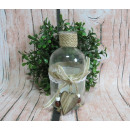 wholesale Home & Living: Bottle, vase with a wooden pendant 13x6 cm