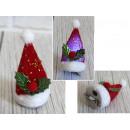 Mini cappello di Babbo Natale su una forcina