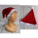 Cappello in velluto di Babbo Natale 36x26 cm - 1 p