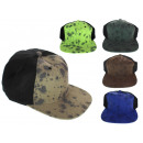 wholesale Headgear: Spotted cap with black back - 1 p