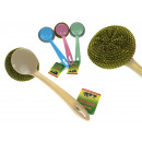 wholesale Cleaning: Kitchen scourer with a handle 24x7.5 cm - 1 pc