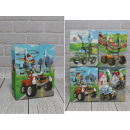 Sacchetto regalo D per ragazzi veicoli 23x18x10 cm