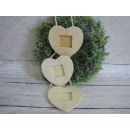 Decoupage heart  frame 3 pieces on a rope (45x12 c