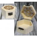 grossiste Bricoler et dessiner: Coffret à découper bois hexagonal 9x