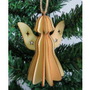 Decoupage Christmas pendant 3d angel 8,5x2,5