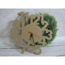 wholesale Clocks & Alarm Clocks: Decoupage wall clock eco figures 32 cm