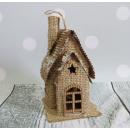Inverno decorazione vacanza iuta 11x8x7 cm