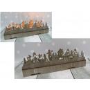 wholesale Decoration: Wooden decoration shining led 38x11x12 cm