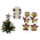 Decorazioni di Natale con pelliccia sulla chiusura