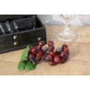 Dekoratív szőlőfürt 17 cm 36 golyó