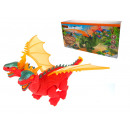 Kétfejű dinoszaurusz, 23x12x szárnyas elemekkel