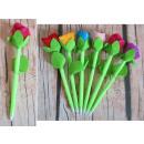 mayorista Boligrafos y lapices: Pluma mascota flor 24 cm mezcla color - 1 pieza