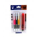 Set penna blu lampeggiante 3 pezzi + coltello