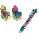 groothandel Stationery & Gifts: Multi-gekleurde pen met 8-kleuren flush 14 cm